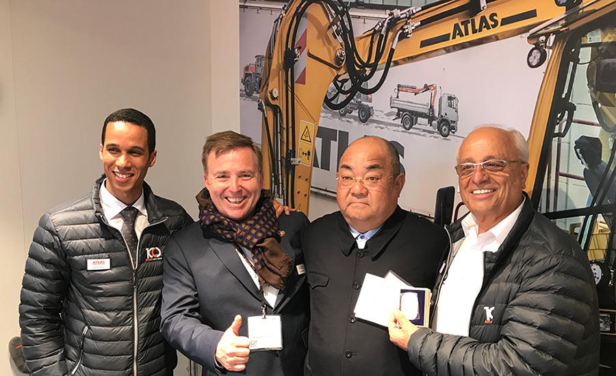 v. l. Brahim Stitou CEO ATLAS, Jörg Hoffmann, Kazuo Okumoto, Fil Filipov, Eigentümer ATLAS